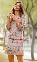 vestido-mujer-manga-larga-con-volantes-de-crepe-venca-el-rosa-romantico